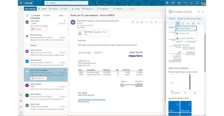 Business Central  - Outlook Integration